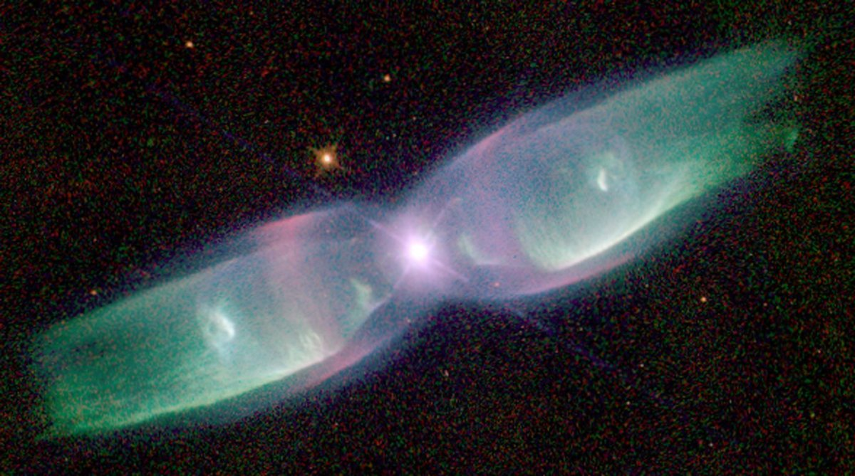 "M2-9 Is A Striking Example Of A ""butterfly"" Or A Bipolar Planetary Nebula"